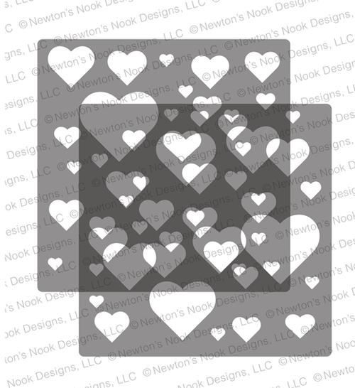 Bokeh Hearts Stencil Set ©2020 Newton's Nook Designs