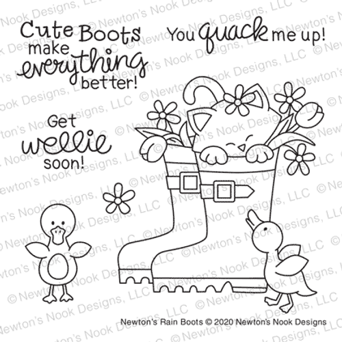 Newton's Rain Boots  Stamp Set ©2020 Newton's Nook Designs