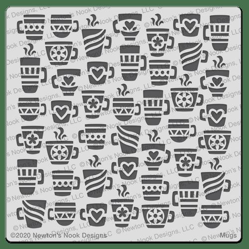 Mugs Stencil ©2020 Newton's Nook Designs