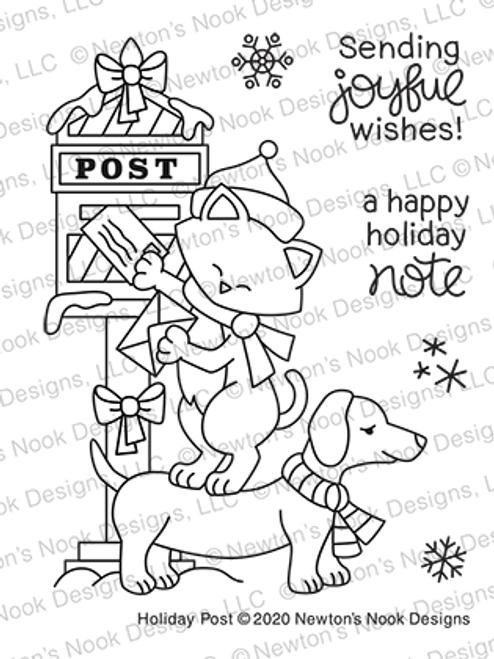 Holiday Post Stamp Set ©2020 Newton's Nook Designs