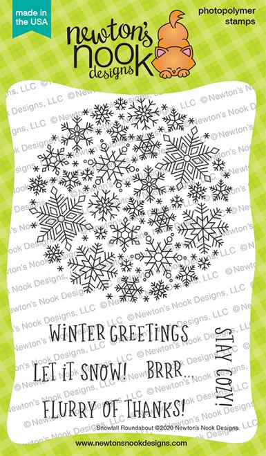 Snowfall Stamp Set ©2020 Newton's Nook Designs