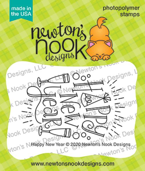 Happy New Year Stamp Set ©2020 Newton's Nook Designs