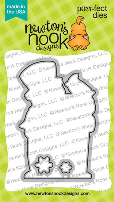 Snowman Greetings Die Set ©2020 Newton's Nook Designs
