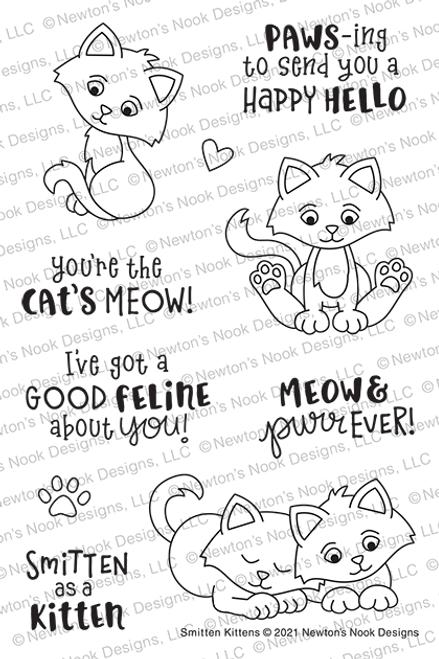 Smitten Kittens Stamp Set ©2021 Newton's Nook Designs