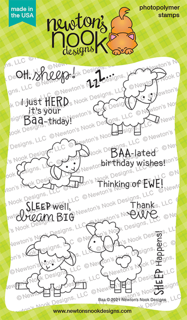 Baa Stamp Set ©2021 Newton's Nook Designs
