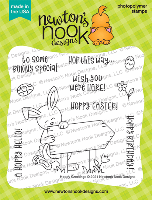 Hoppy Greetings Stamp Set ©2021 Newton's Nook Designs