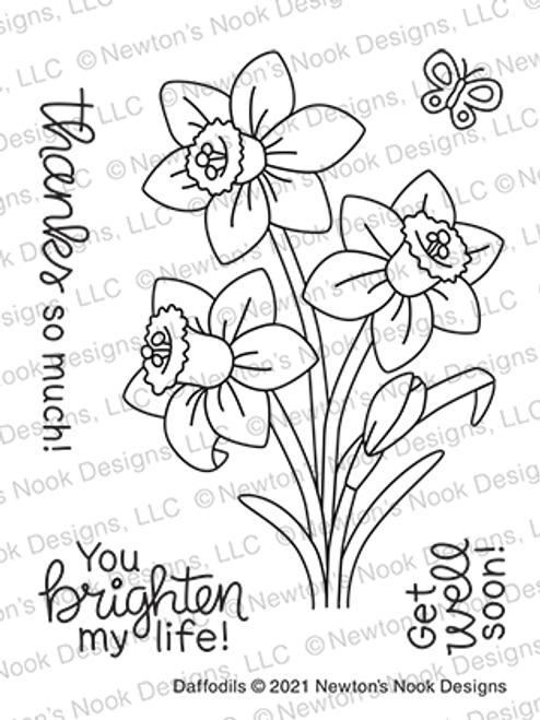 Daffodils Stamp Set ©2021 Newton's Nook Designs