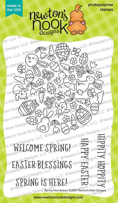 Spring Roundabout Stamp Set ©2021 Newton's Nook Designs