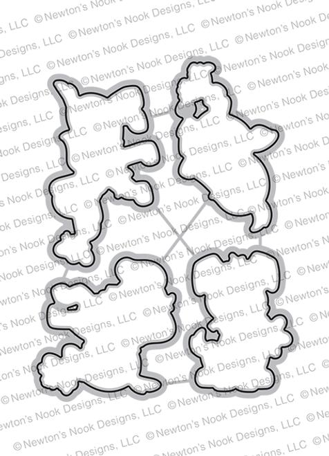 Puppy Friends Die Set ©2021 Newton's Nook Designs
