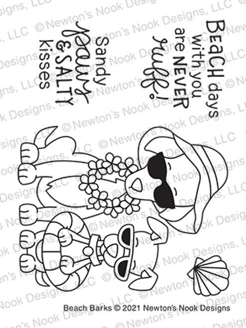 Beach Barks Stamp Set ©2021 Newton's Nook Designs