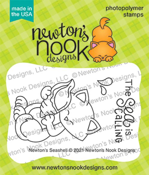 Newton's Seashell Stamp Set ©2021 Newton's Nook Designs