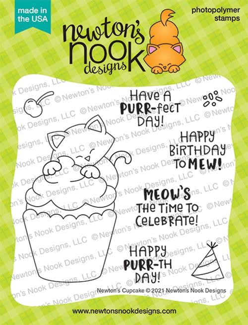 Newton's Cupcake Stamp Set ©2021 Newton's Nook Designs