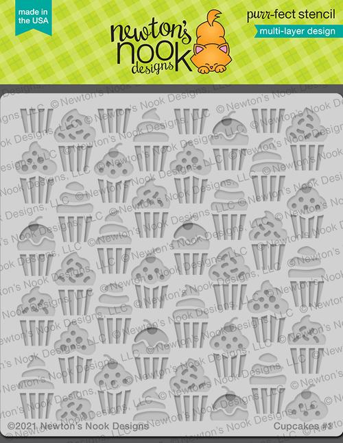 Cupcakes Stencil ©2021 Newton's Nook Designs