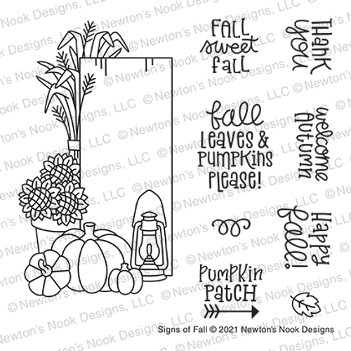 Signs of Fall Stamp Set ©2021 Newton's Nook Designs