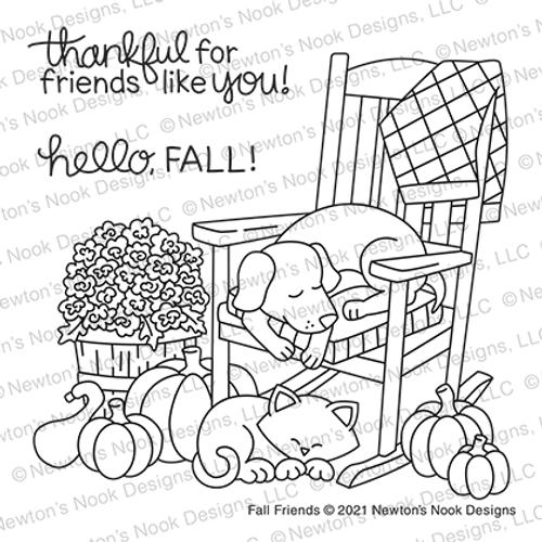 Fall Friends Stamp Set ©2021 Newton's Nook Designs