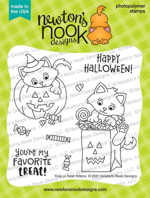 Trick or Treat Kittens Stamp Set ©2021 Newton's Nook Designs