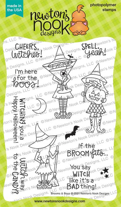 Brooms & Boos Stamp Set ©2021 Newton's Nook Designs
