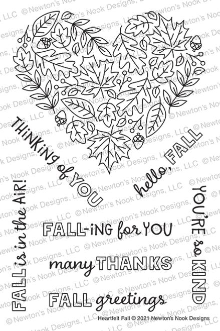 Heartfelt Fall Stamp Set ©2021 Newton's Nook Designs