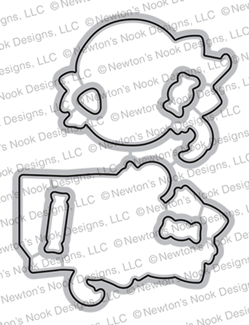 Trick or Treat Kittens Die Set ©2021 Newton's Nook Designs
