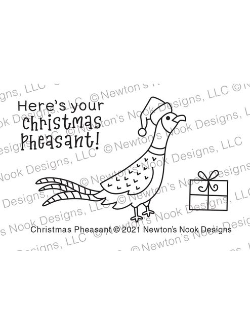 Christmas Pheasant Stamp Set ©2021 Newton's Nook Designs