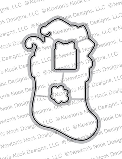 Newton's Stocking Die Set ©2021 Newton's Nook Designs