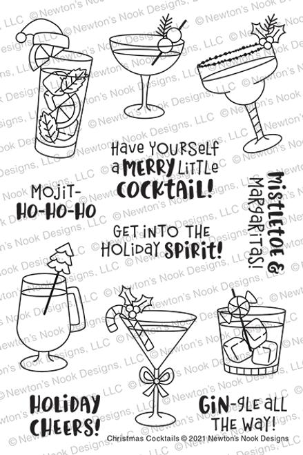 Christmas Cocktails Stamp Set ©2021 Newton's Nook Designs