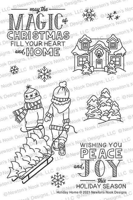 Holiday Home Stamp Set ©2021 Newton's Nook Designs