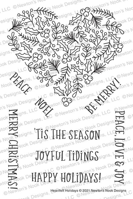 Heartfelt Holidays Stamp Set ©2021 Newton's Nook Designs