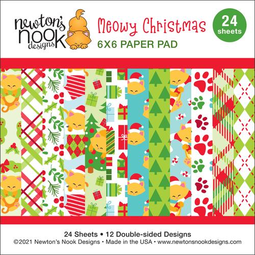 Meowy Christmas Paper Pad ©2021 Newton's Nook Designs