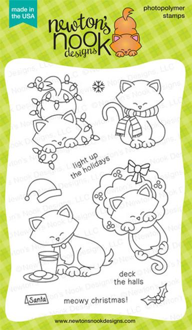 Newton's Holiday Mischief   4x6 photopolymer Stamp Set ©2013 Newton's Nook Designs