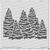 Evergreens Stencil  ©2018 Newton's Nook Designs