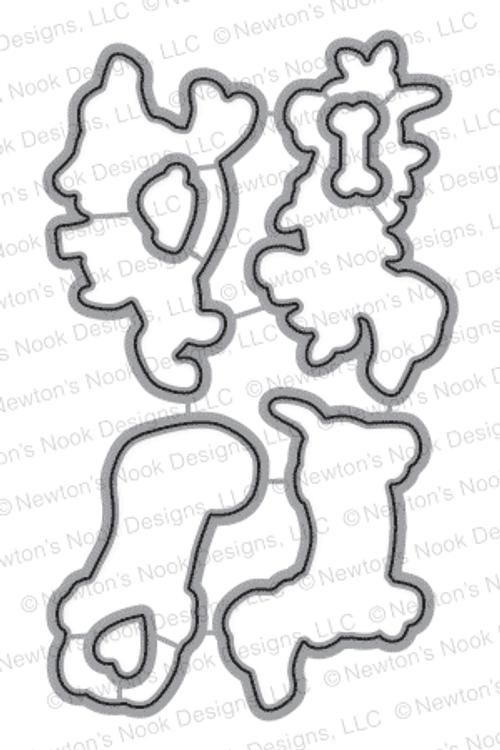 Holiday Hounds   Die Set   ©2015 Newton's Nook Designs