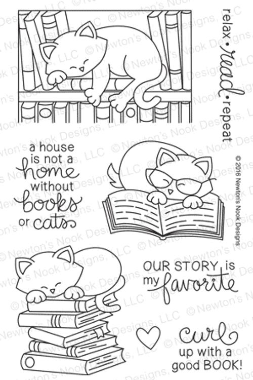 Newton's Book Club Stamp Set ©2016 Newton's Nook Designs