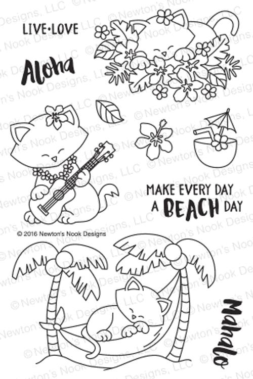 Aloha Newton Stamp Set ©2016 Newton's Nook Designs