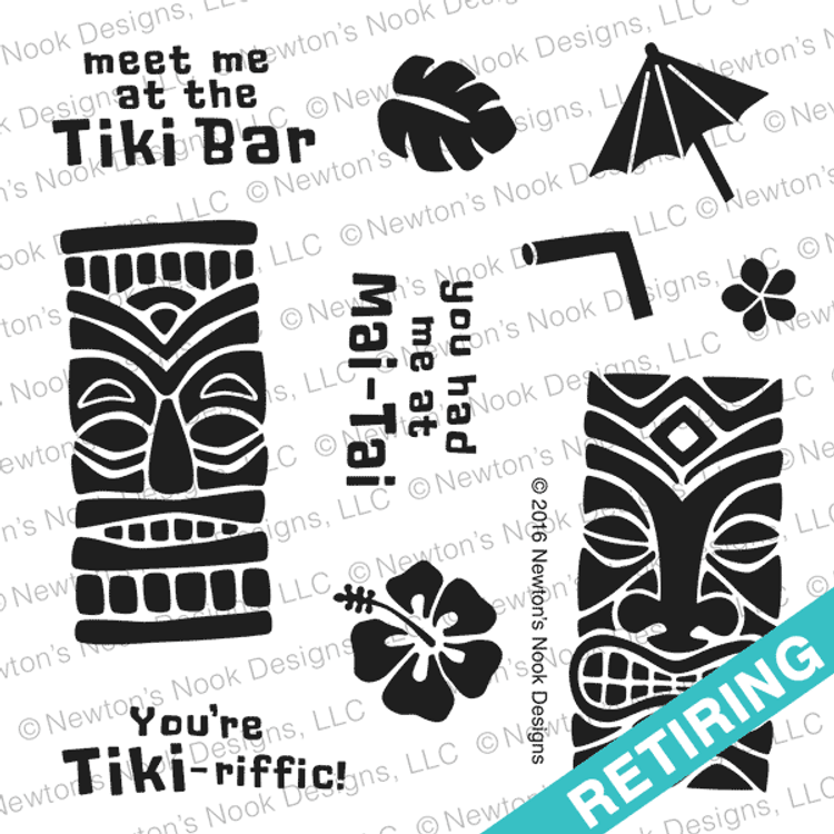 Tiki Time Stamp Set ©2016 Newton's Nook Designs