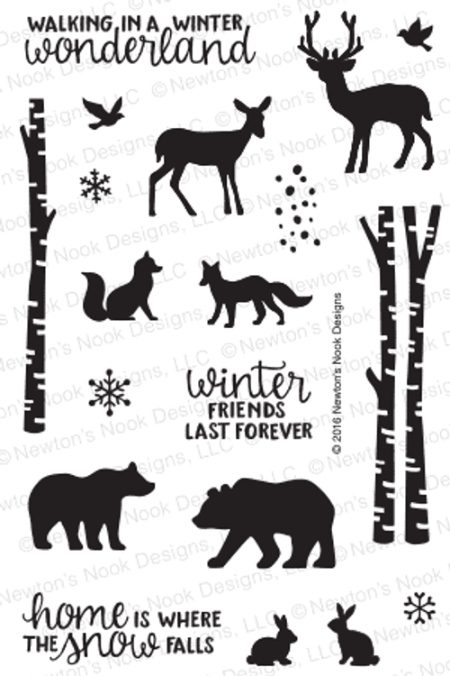 Serene Silhouettes Stamp Set ©2016 Newton's Nook Designs