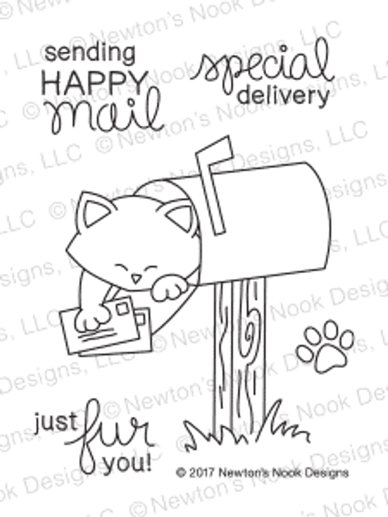 Newton's Happy Mail Stamp Set ©2017 Newton's Nook Designs