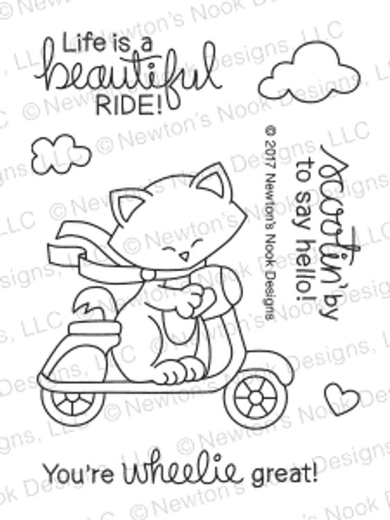 Newton Scoots By Stamp Set ©2017 Newton's Nook Designs