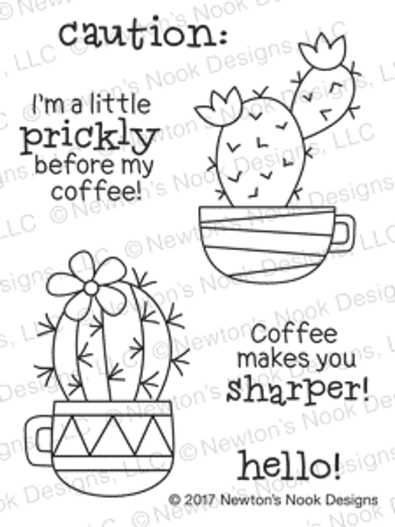 Cuppa Cactus Stamp Set ©2017 Newton's Nook Designs