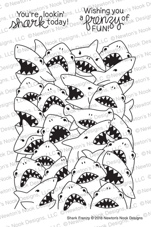 Shark Frenzy Stamp Set ©2018 Newton's Nook Designs