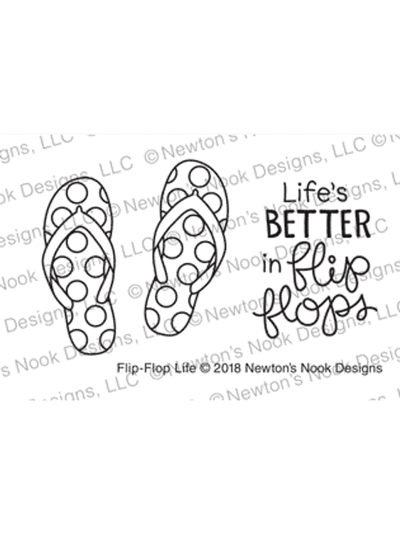 Flip-Flop Life Stamp Set ©2018 Newton's Nook Designs