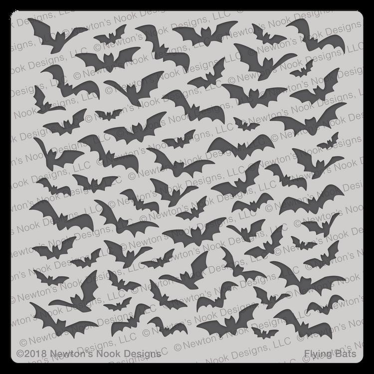 Flying Bats Stencil ©2018 Newton's Nook Designs