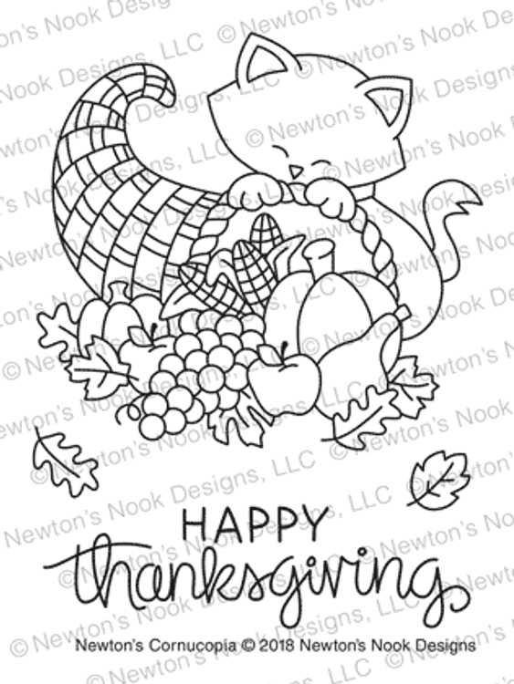 Newton's Cornucopia Stamp Set ©2018 Newton's Nook Designs