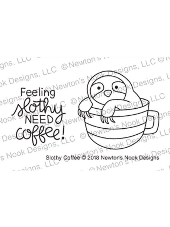 Slothy Coffee Stamp Set ©2018 Newton's Nook Designs