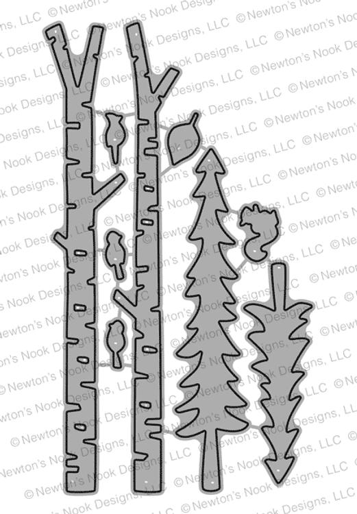 Forest Scene Builder Die Set ©2018 Newton's Nook Designs