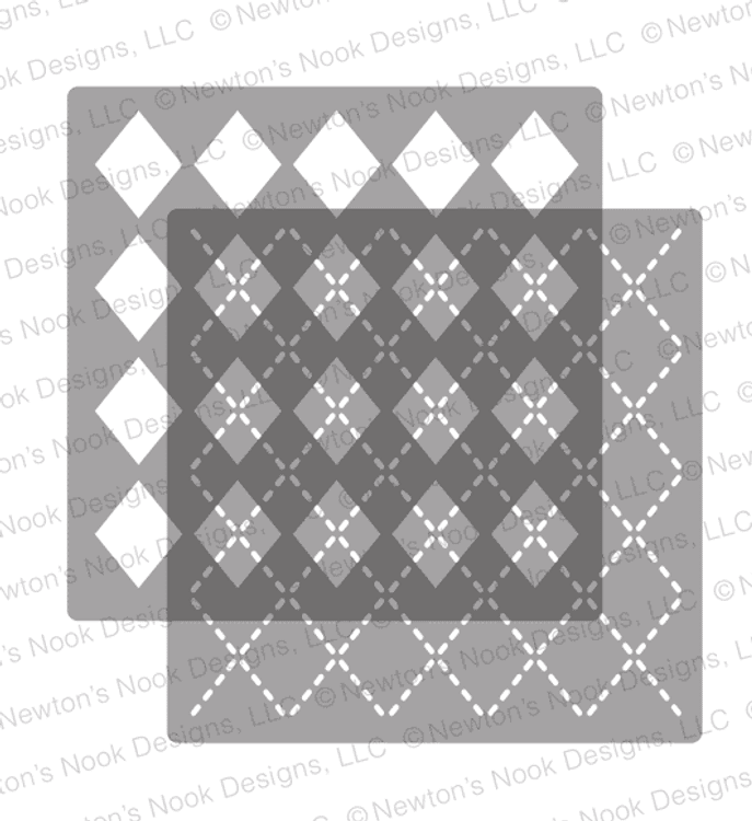 Argyle Stencil Set ©2018 Newton's Nook Designs