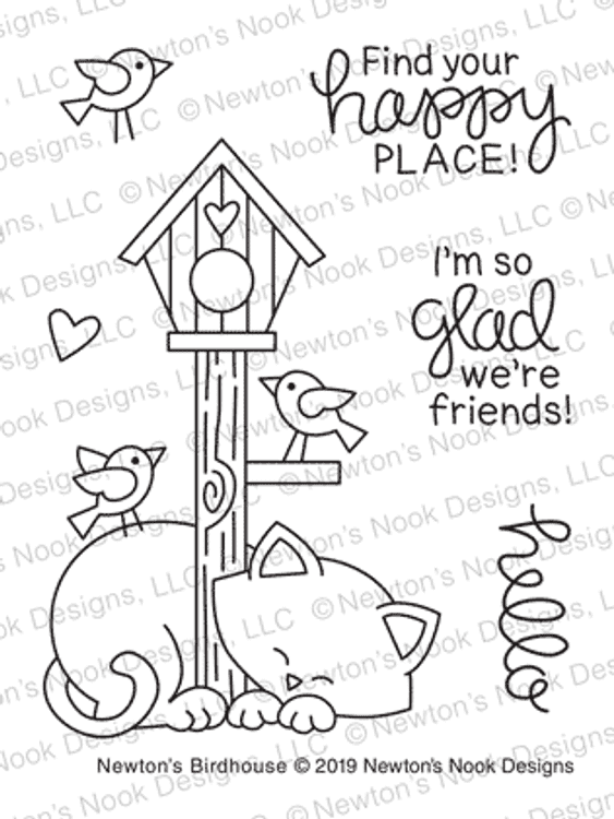 Newton's Birdhouse Stamp Set ©2019 Newton's Nook Designs