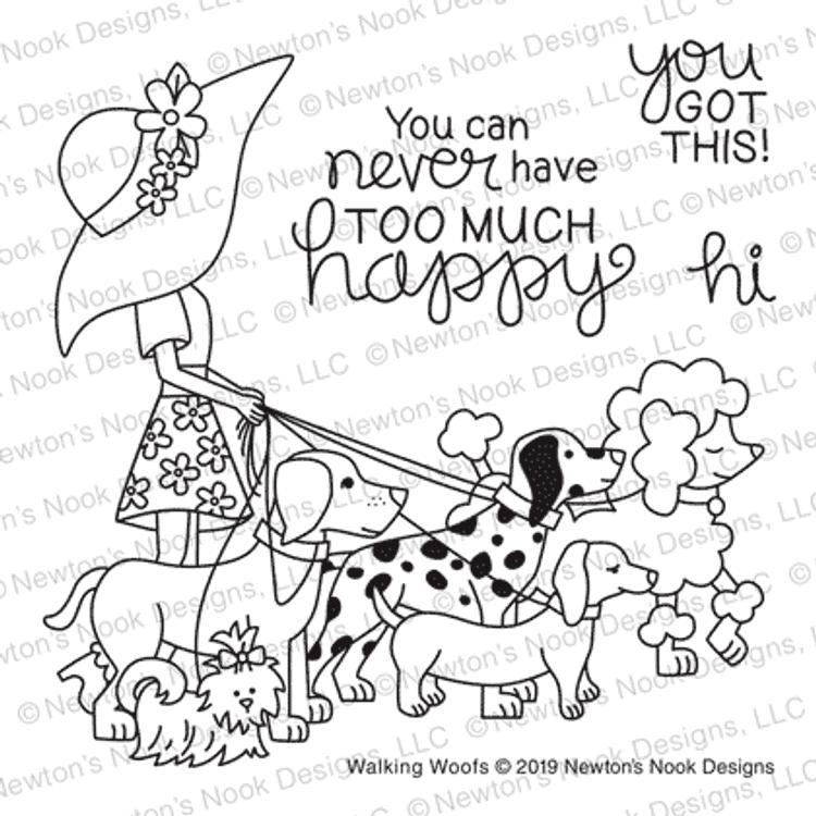 Walking Woofs Stamp Set ©2019 Newton's Nook Designs