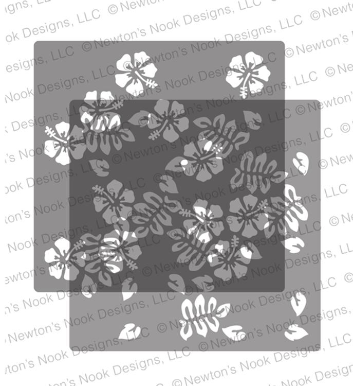 Hibiscus Stencil Set ©2019 Newton's Nook Designs