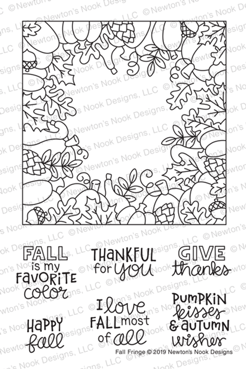 Fall Fringe Stamp Set ©2019 Newton's Nook Designs
